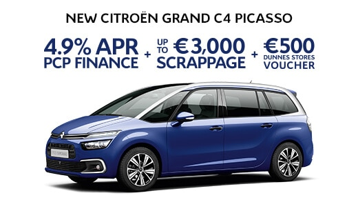 Grand C4 Picasso 171 promotions crappage finance voucher