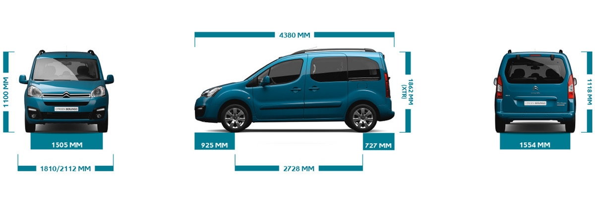 Berlingo Multispace Dimensions