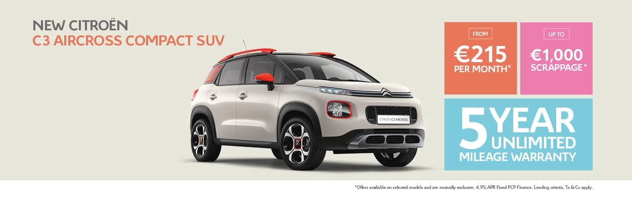New C3 Aircross | 181 Offers | Citroën Ireland