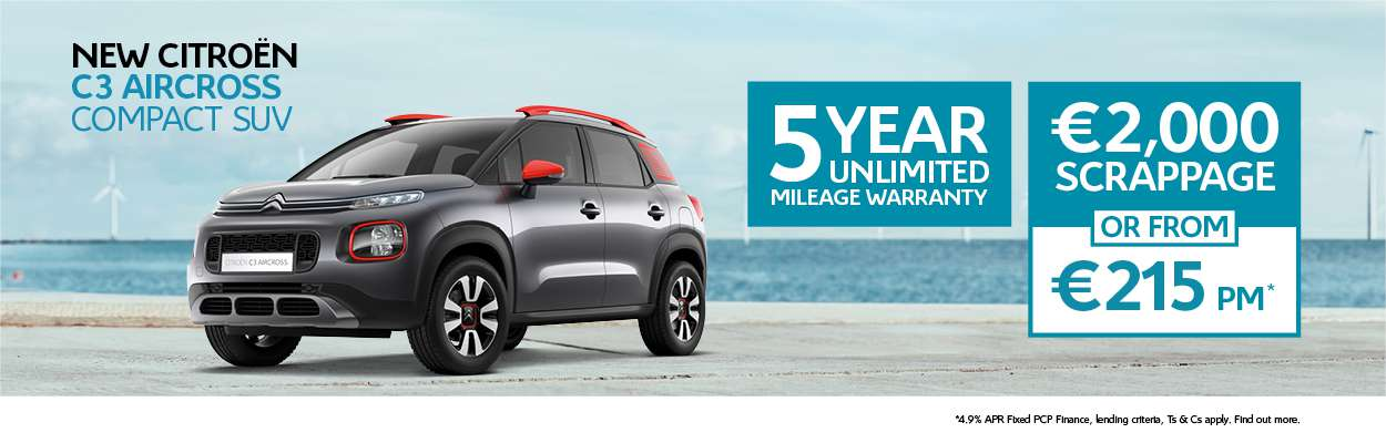 New C3 Aircross offer 182