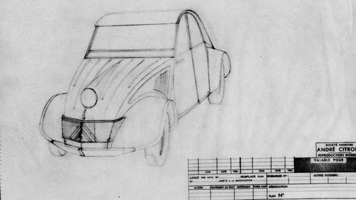 Sketch of Citroën 2CV