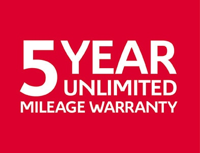 5 Year Unlimited Mileage Warranty Logo