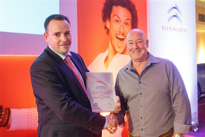 BOLANDS WATERFORD AWARDED CITROËN & DS AUTOMOBILE'S AFTERSALES DEALER OF THE YEAR AWARD 2016