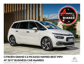 CITROËN GRAND C4 PICASSO NAMED BEST MPV AT 2017 BUSINESS CAR AWARDS