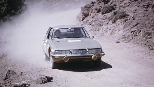 Citroën SM at the Morocco Rally